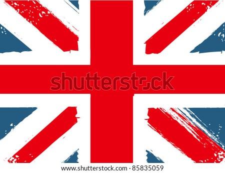 grunge english flag