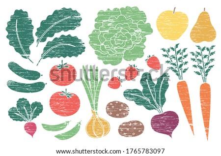 grunge farm produce set with