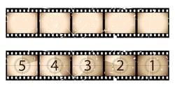 Grunge film strip and countdown
