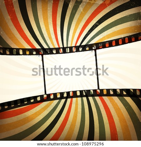 Grunge film strip background. Vector, EPS10
