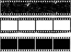 Grunge film strips