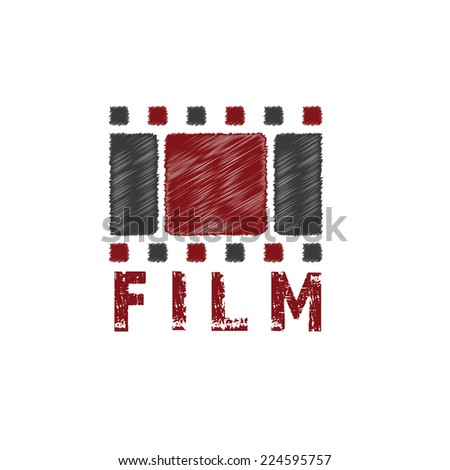 grunge film tape vector design template