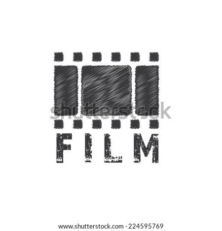 grunge film tape vector design template