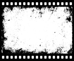 grunge filmstrip with transparent space insert for picture or text