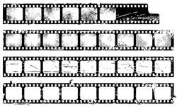 Grunge filmstrips set