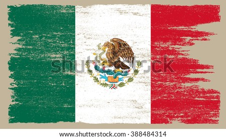 grunge flag of mexicovector