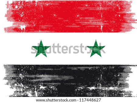 grunge flag of syria a grunge