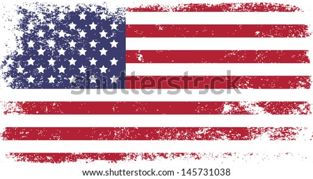 grunge flag of usa