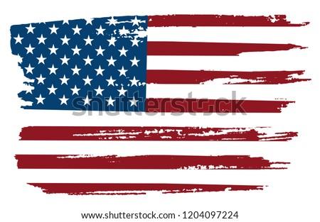 Grunge flag of USA.American flag.Vector Eps10. #1204097224