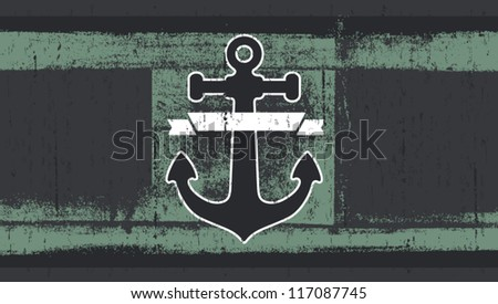 grunge flag with anchor
