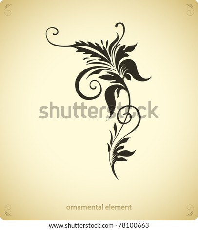 Ornamental Design Flower Grunge Flower Ornamental