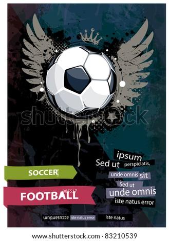 Grunge football illustration.
