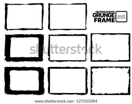 Grunge frame - abstract texture. Stock vector design template