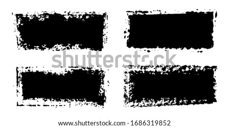 Grunge frame backgrounds.Abstract vector banners.