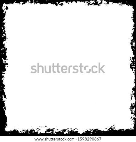 Grunge frame. Grunge background. Grunge border. Vector illustratoin
