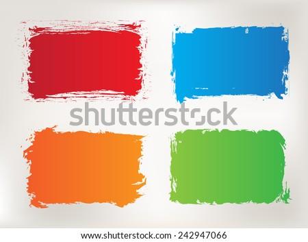 Grunge frame set.Color grunge background.Vector design template