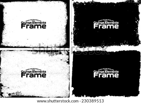 Grunge frame set texture - Abstract design template. Stock vector set - easy to use #230389513