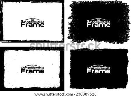 Grunge frame set texture - Abstract design template. Stock vector set - easy to use #230389528