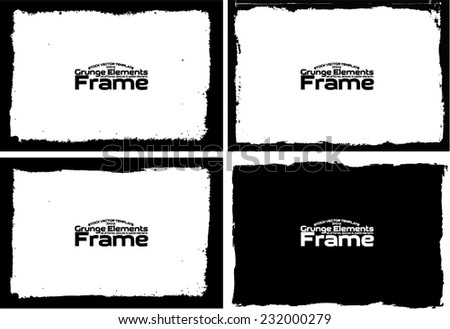 Grunge frame set texture - Abstract design template. Stock vector set - easy to use #232000279