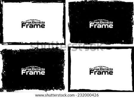 Grunge frame set texture - Abstract design template. Stock vector set - easy to use #232000426