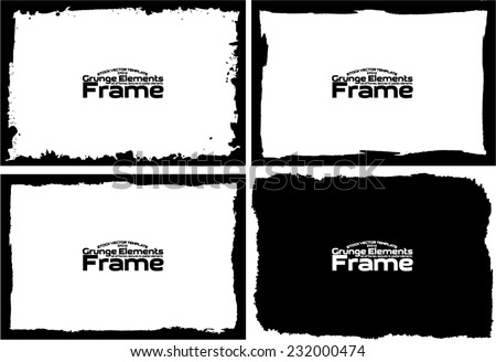 Grunge frame set texture - Abstract design template. Stock vector set - easy to use #232000474