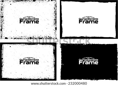 Grunge frame set texture - Abstract design template. Stock vector set - easy to use #232000480