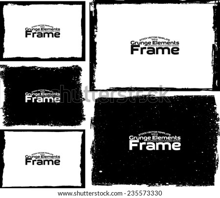 Grunge frame set texture - Abstract design template. Stock vector set - easy to use  #235573330