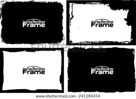Grunge frame set texture - Abstract design template. Stock vector set - easy to use #241284454