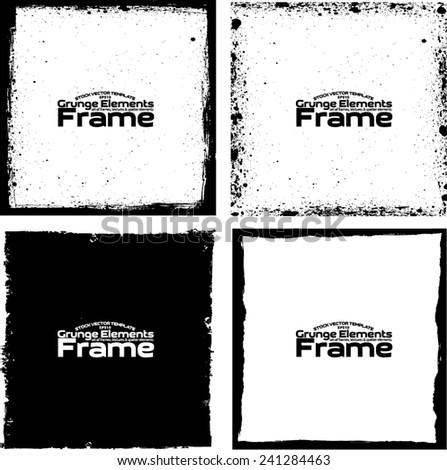 Grunge frame set texture - Abstract design template. Stock vector set - easy to use #241284463