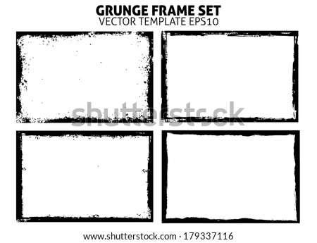 Grunge frame set. vector template