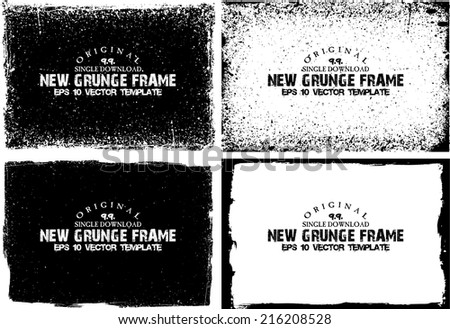 Grunge frame set. vector template #216208528