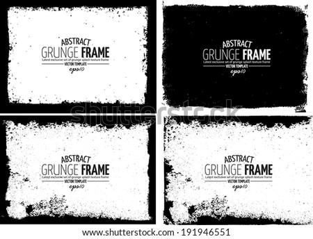 Grunge frame set. vector template texture #191946551