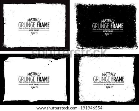 Grunge frame set. vector template texture #191946554