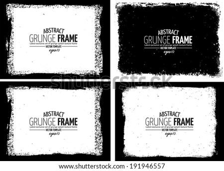 Grunge frame set. vector template texture #191946557
