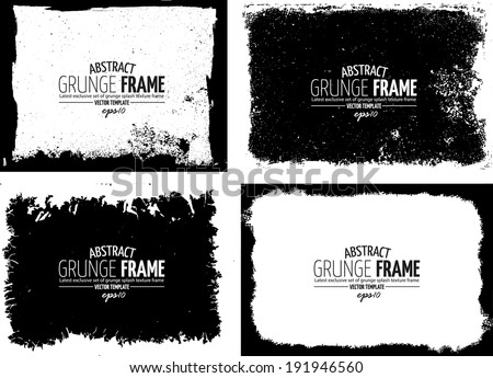 Grunge frame set vector template texture