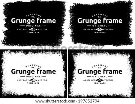 Grunge frame set. vector template texture #197652794