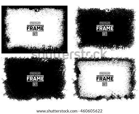 Grunge frame texture set #460605622