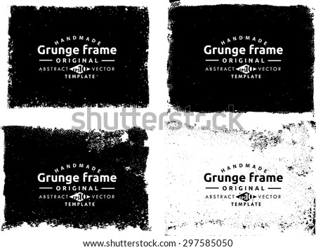 Grunge frame texture set - Abstract design template. Stock vector set - easy to use  #297585050