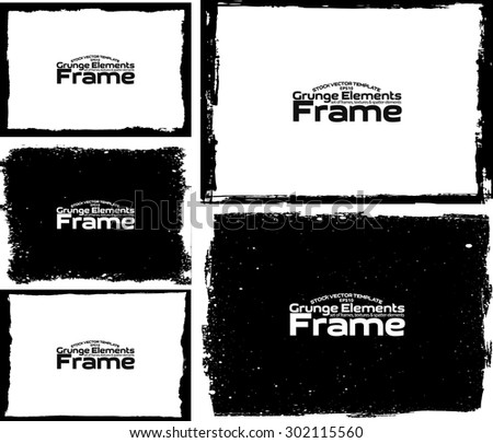 Grunge frame texture set - Abstract design template. Stock vector set - easy to use #302115560
