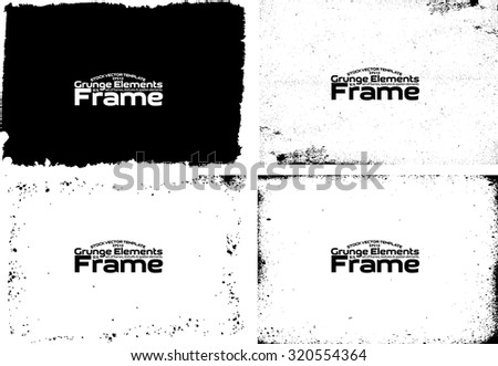 Grunge frame texture set - Abstract design template. Stock vector set - easy to use #320554364
