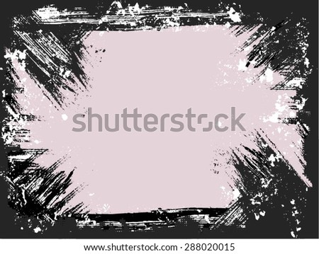 grunge frame vector template