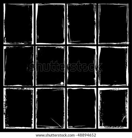 Grunge Frames and Corners. Illustrator EPS 8 Vector for multiple applications. - stock vector