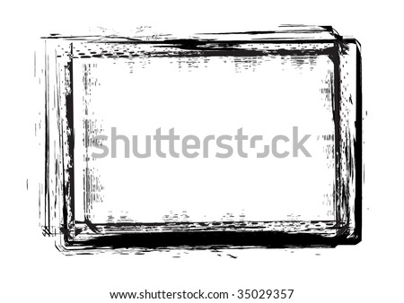 grunge frames  in vector mode with white background