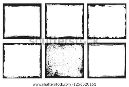 Grunge frames set.Grunge backgrounds.