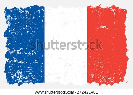 france flag on old grunge background - download free vector art