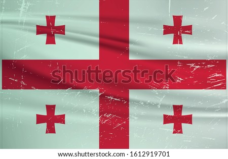 grunge georgia flag georgia