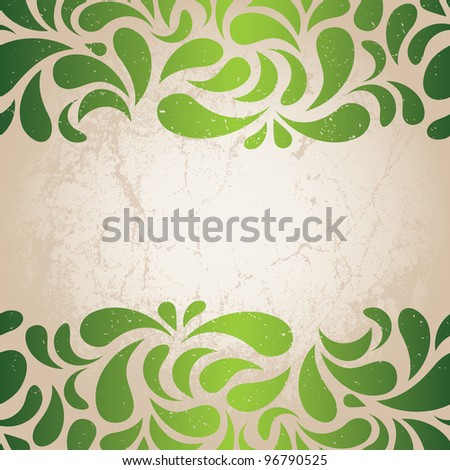 grunge green background eps 8