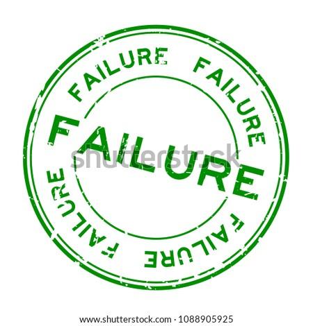 grunge green failure word round