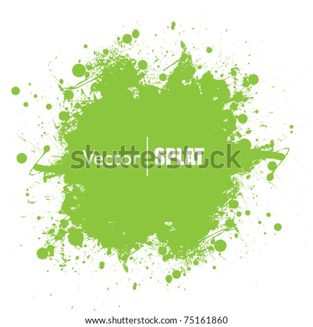 grunge green ink splat with