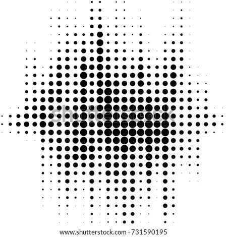 grunge halftone black and white